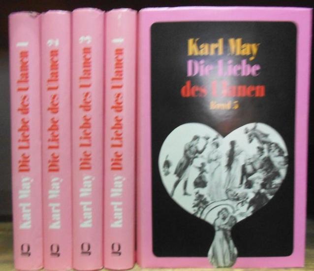 May, Karl: Die Liebe des Ulanen. Komplett in 5 Bänden. Mit einem Vorwort von Klaus Hoffmann. Reprografischer Nachdruck der Ausgabe Dresden 1901 - 1902.