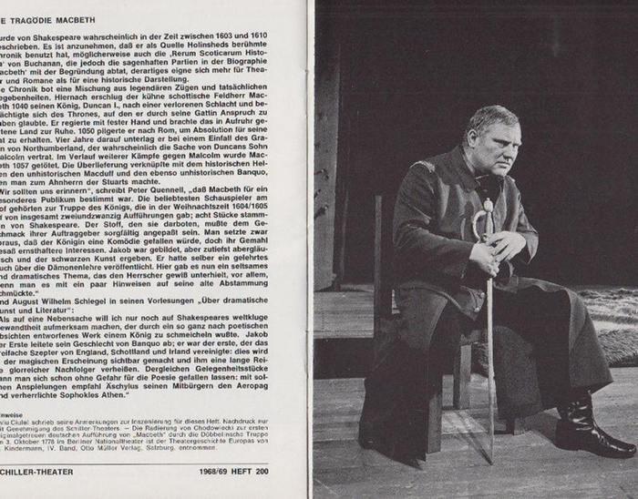 Berlin Schiller Theater -Boleslaw Barlog- Intendanz (Hrsg.) Programmhefte des Schiller Theaters Berlin, Spielzeit 1968 - 1969. Konvolut aus 3 Expl.