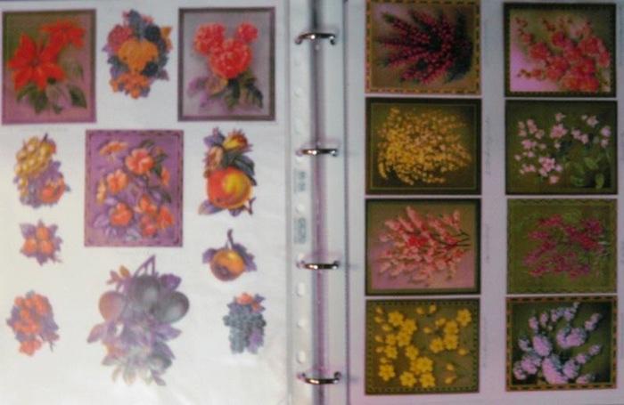 Glanzbilder Album. - Oblaten. - Lackbilder. - Oblaten-, Lackbilder-, Glanzbilder- Album: Obst- und Blumenmotive.