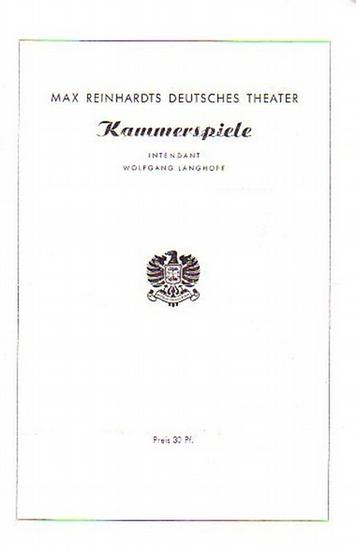 Berlin Deutsches Theater und Kammerspiele. Gustav von Wangenheim & Wolfgang Langhoff- Intendanz (Hrsg.) Programmzettel des Deutschen Theaters und der Kammerspiele Berlin, 1946-1948 Konvolut aus 4 Zetteln.