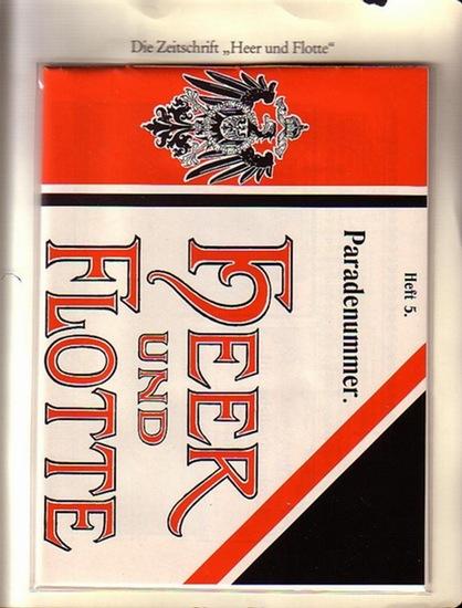 """BerlinArchiv herausgegeben von Hans-Werner Klünner und Helmut Börsch-Supan. - Berlin-Archiv (Hrsg.v. Hans-Werner Klünner und Helmut Börsch-Supan): Lieferung BE 01069 """"Heer und Flotte"""", 1. Jg., Nr. 5, vom 10. Juni 1899."""
