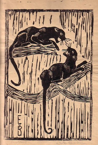 Bruchhausen, E. v. : Ohne Titel, abgebildet sind zwei Panther.