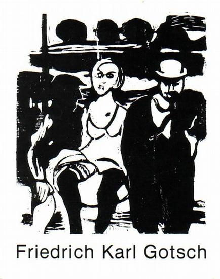 Gotsch, Friedrich Karl. - Hopf, Peter (Katalog): Friedrich Karl Gotsch zum 80. Geburtstag : Ölbilder, Aquarelle, Zeichnungen, Grafik. Ausstellung Kunstamt Wedding vom 14.6 -10.7.1980.
