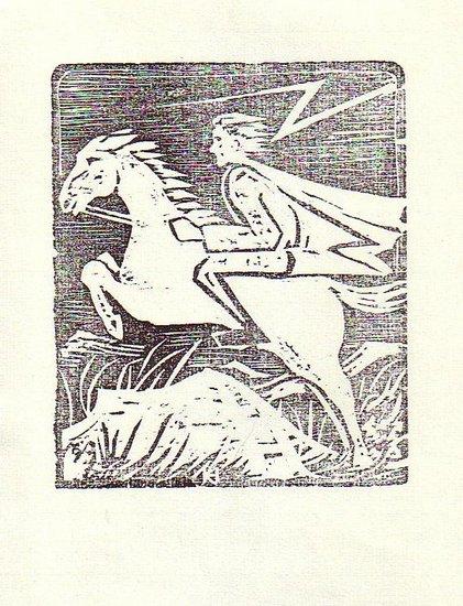 Heyn, Karl [auch Carl]: Ohne Titel, abgebildet ist ein Reiter.