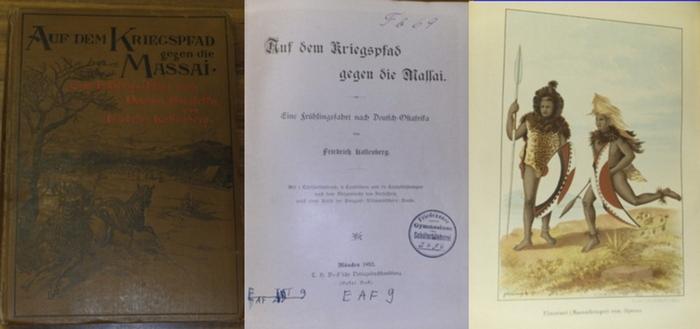 Kallenberg, Friedrich: Auf dem Kriegspfad gegen die Massai. Eine Frühlingsfahrt nach Deutsch-Ostafrika.