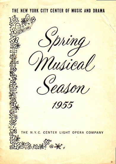 Harburg, E. Y. and Saidy, Fred: Program to: Finian´s Rainbow. Music by Burton Lane. Lyrics by E.Y. Harburg. Directed by William Hammerstein. Choreography by Onna White. Orchestrations by Robert Russel Bennett and Don Walker. With Helen Gallagher, Will ...