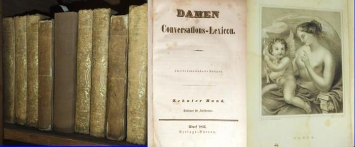 Herloßsohn, Carl Georg Reginald (Hrsg.) - Damen Konversationslexikon: Damen Conversations - Lexicon. Komplett in 10 Bänden.