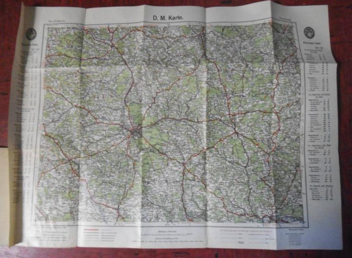 Reichskarte. - Nürnberg. - Reichskarte. D. M. (Deutsche Motorfahrer) Karte. Blatt Nürnberg.