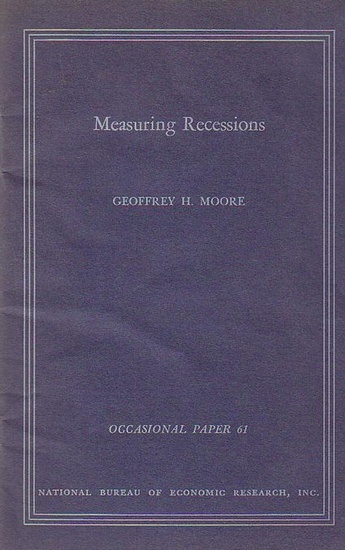 Moore, Geoffrey H. Measuring Recessions. Occasional Paper 61. Reprinted from the June 1958 issue of the Journal of the american statistical Association.