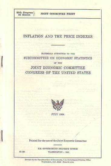 Patman, Wright // Douglas, Paul H. (Hrsg.): Inflation and the price indexes. Materials submitted to the subcommittee on economic statistics of the Joint Economic Committee Congress of the United States.
