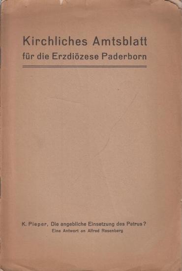 Pieper, Karl: Die angebliche Einsetzung des Petrus? Eine Antwort an Alfred Rosenberg.