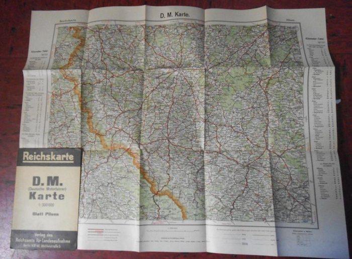 Reichskarte. - Pilsen. - Reichskarte. D.M. (Deutsche Motorfahrer) Karte. Blatt Pilsen.
