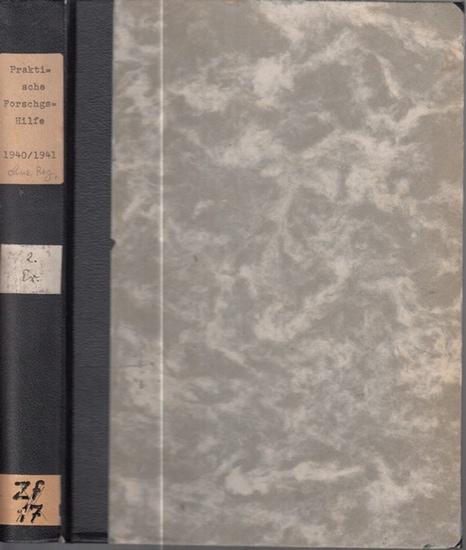 Praktische Forschungshilfe. - Praktische Forschungshilfe : Das Suchblatt für alle Fragen der Sippenforscher. Ein Band mit den beiden kompletten Jahrgängen 1940 und 1941 mit jeweils 12 Heften.
