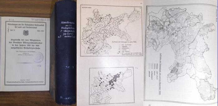 Reichsanstalt für Land- und Forstwirtschaft: Mitteilungen aus der Biologischen Reichsanstalt für Land- und Forstwirtschaft. Heft 31 - 52. 1927-1935. 2 Bde.