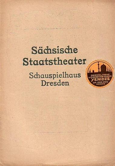 Sächsische Staatstheater Schauspielhaus Dresden - G.Hauptmann: Die versunkene Glocke. Programmheft für Dienstag, 7.Februar 1922.