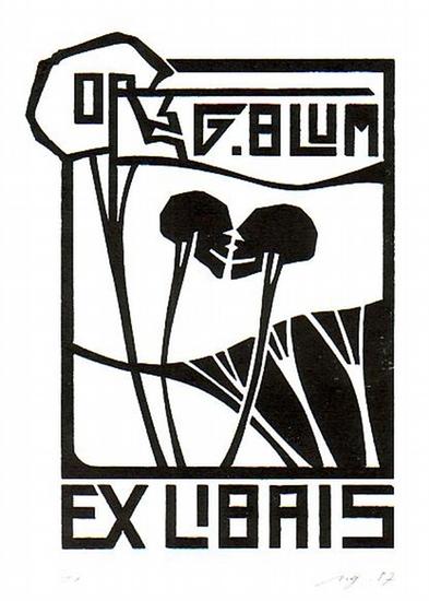 Ull, Günther: Ex Libris für Dr. G. Blum.