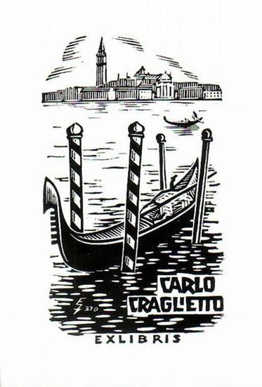 Zierold, Erhard: Ex Libris von Carlo Graglietto.