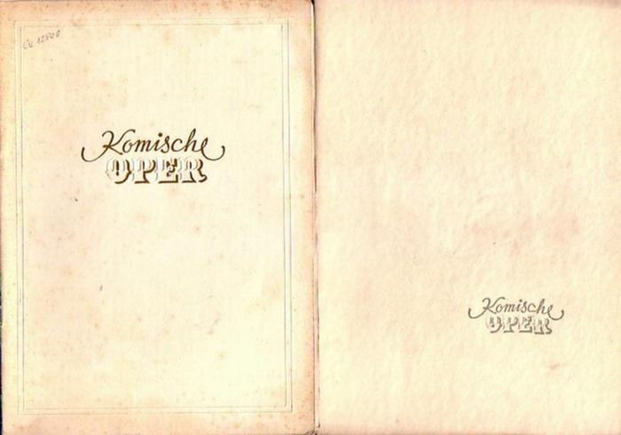 "Verdi / Boito nach Shakespeare ; Puccini / Giacosa nach Murger ; v. Weber / Kind. Komische Oper Berlin-Intendanz , Dramaturgische Abteilung.(Hrsg.) Falstaff ; ""La Bohéme"" ; ""Der Freischütz"". Programmhefte der Komischen Oper Berlin, ..."