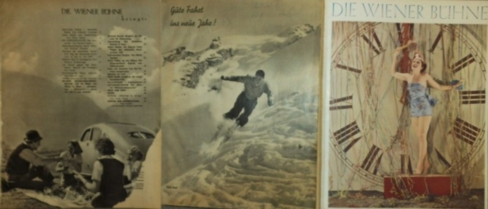 Wiener Bühne, Die - R.Haintz, H.Emert und L. Grudner (Red), Joh.N.Vernay (Hrsg.): Die Wiener Bühne. 16. Jahrgang. Heft 1 - Heft 12, 2. Juni 1939, dann Heft 14, 16, 17 und 6 weitere des Jahrganges 1939.