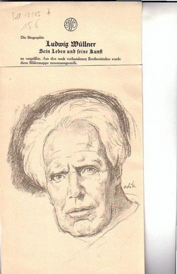 Wüllner, Ludwig (1858-1938). - Ludwig Wüllner. [Franz Ludwig: Ludwig Wüllner. Sein Leben und seine Kunst]. Bildermappe [aus Restbeständen].