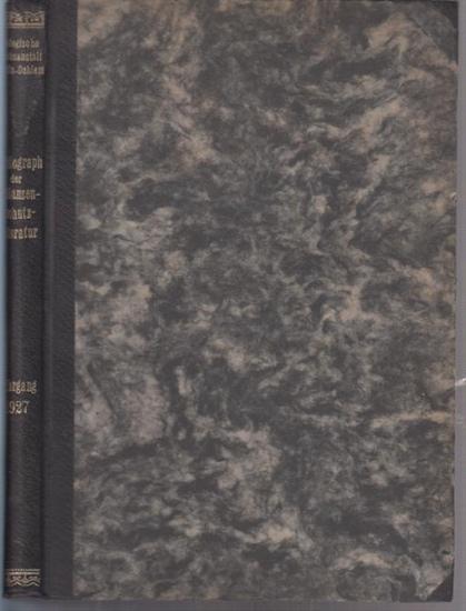 Pflanzenschutz. - Morstatt, H. (Bearb.): Bibliographie der Pflanzenschutzliteratur : Das Jahr 1927. Hrsg. von der Biologischen Reichsanstalt für Land- und Forstwirtschaft in Berlin-Dahlem.