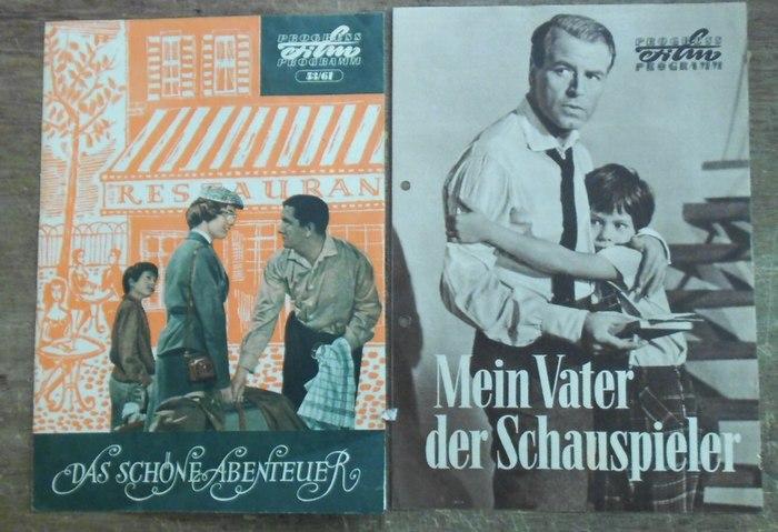 """Progress Film Programm. Hrsg.: VEB Progress Film- Vertrieb. Progress Film Programme. Konvolut von 27 Nummern. Enthalten: Nr. 95/57 (gelocht) """"Mein Vater der Schauspieler"""" Regie: Robert Siodmak, mit O.W.Fischer, Hilde Krahl. / Nr. 53/61 """"Das"""