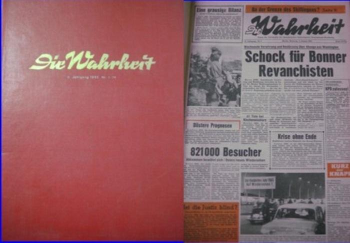 Wahrheit, Die : Die Wahrheit. Organ des Vorstandes der Sozialistischen Einheitspartei Deutschlands-Westberlin. 11. Jahrgang, 1. Halbjahr Januar - Juni 1965 Heft 1 - 74.