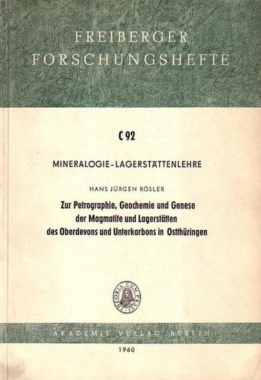 Rösler, Hans Jürgen: Mineralogie - Lagerstättenlehre. Zur Petrographie, Geochemie und Genese der Magmatite und Lagerstätten des Oberdevons und Unterkarbons in Ostthüringen. (= Freiberger Forschungshefte, C 92).