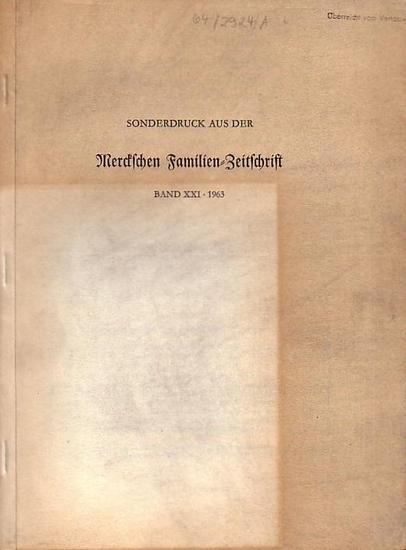 Merck, Johann Heinrich (1741-1791). - Tobien, Heinz: Johann Heinrich Merck als Naturforscher, Paläontologische und osteologische Studien. Sonderdruck aus der Merckschen Familien-Zeitschrift, Band 29, 1963.