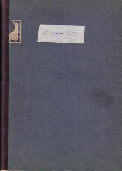 Mitteilungen des Vereins für die Geschichte Berlins - Martin, Hans (Hrsg.): Mitteilungen des Vereins für die Geschichte Berlins. 46.- 47. Jahrgang 1929-30. Komplett mit 12 Heften.