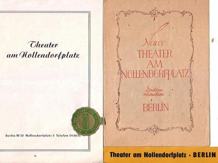 """Kalman, Emmerich ; Lehar, Franz. Theater am Nollendorfplatz Berlin- Intendanz (Hrsg.): Die Czardasfürstin ; """"Land des Lächelns"""" . Programmhefte des Theaters am Nollendofplatz Berlin. Konvolut aus 2 Heften."""