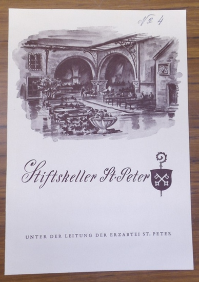 Salzburg, Erzabtei St. Peter, Stiftskeller St. Peter. - Salzburg, Stiftskeller St.Peter unter der Leitung der Erzabtei St.Peter. -