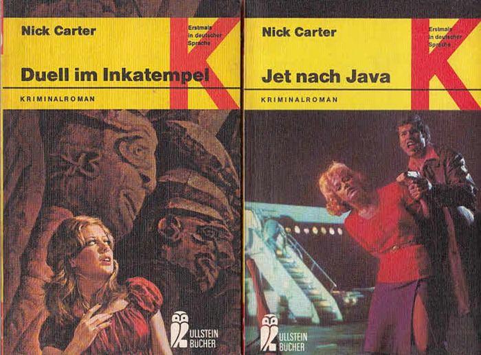 Carter, Nick: Konvolut aus zwei Titeln: Duell im Inkatempel / Jet nach Java .