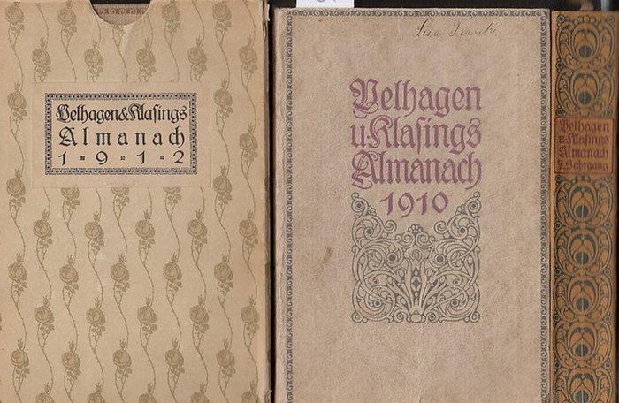 Velhagen/ Klasing. - Almanach Herausgegeben von der Radaktion von Velhagen und Klasings Monatsheften. Jahrgang 1910 / Jahrgang 1912 / Jahrgang 1915. Drei Bände der Reihe.