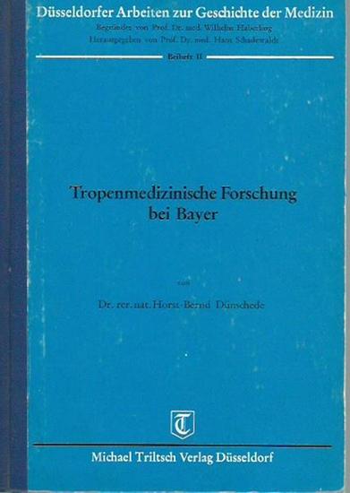 Dünschede, Horst-Bernd: Tropenmedizinische Forschung bei Bayer. (= Düsseldorfer Arbeiten zur Geschichte der Medizin, Beiheft II).