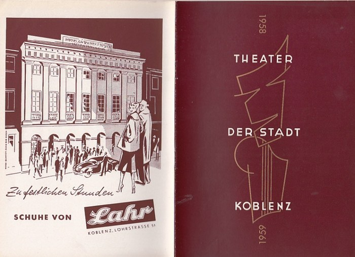 Theater der Stadt Koblenz-Intendanz: H. W. Wolff- (Hrsg.): Spielplanheft der Spielzeit 1958 / 1959 des Theaters der Stadt Koblenz.