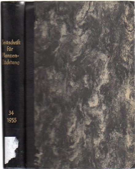 Zeitschrift für Pflanzenzüchtung. - Fruwirth, C. (Begründer) // Kappert, H.; Rudorf, W.; Akerman, A.; Stubbe, H.; Tschermak, E.v. (Herausgeber): Zeitschrift für Pflanzenzüchtung. Band 34 (Vierunddreißigster Band), 1955. Komplett in 4 Heften.
