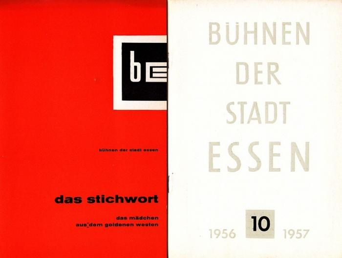 Bühnen der Stadt Essen-Intendanz (Hrsg.): Das Stichwort. 1. Jahrgang, Heft 20 von 1958/59. / Heft 10 von 1956/57 Bühnen der Stadt Essen. Konvolut von 2 Heften.