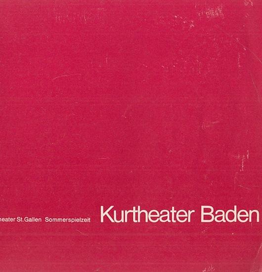 """Rossini, Gioacchino. Stadttheater St. Gallen-Kurtheater Baden- Hrsg.: Programmheft zu """"Der Barbier von Sevilla"""" im Kurtheater Baden, Sommerspielzeit."""