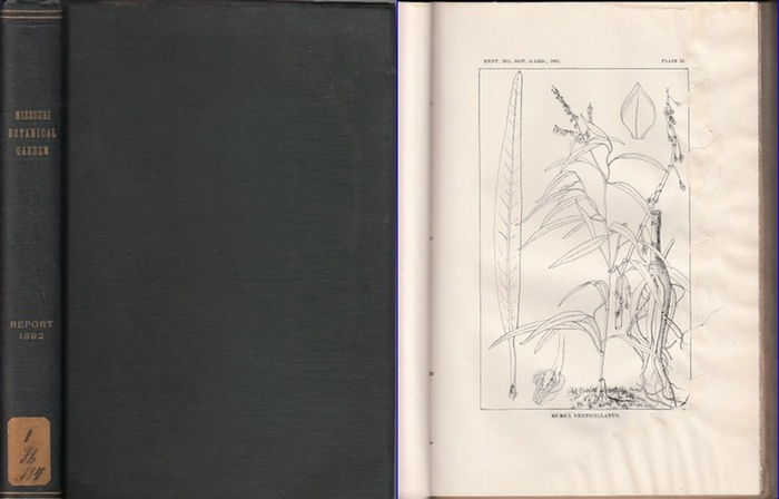 Missouri Botanical Garden. - Trelease, William / Charles V. Riley: Missouri Botanical Garden. Third annual report. Scientific Papers: Revision of North American species of Rumex- by William Trelease. // The Yucca Moth and Yucca Pollination by Charles V. R