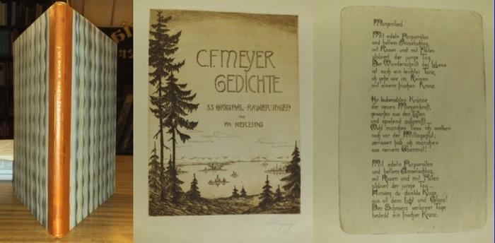Meyer, C.F.(Gedichte) / Herzing, Minni (Radierungen) : Gedichte mit 30 Original-Radierungen.