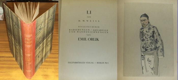 Weiss, H.M. / Orlik, Emil (Radierungen/Aquarelle/Handzeichnungen) : Li. Chinesische Erzählungen.