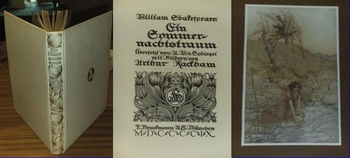 Shakespeares, William / Arthur Rackham (Illustr.): Ein Sommernachtstraum. Übersetzt von A.W.v.Schlegel. Bilder von Arthur Rackham. (- Limitierte Ausgabe -)