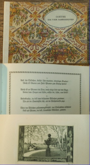 Goethe,Johann Wolfgang von / Fritz Janowski (Illustr. / Hrsg.): Die vier Jahreszeiten. - Fünfter Daphnis-Druck. Herausgeber Fritz Janowski.