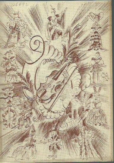 Wanderscheck, Hermann und Fritz Rügamer: Werbeblatt zu 'Das Märchen von der Wundergeige', geschrieben von Fritz Rügamer und Hermann Wanderscheck, komponiert von Kurt Heuser.