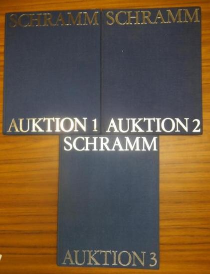 Schramm, Hans-Joachim / Münzenhandlung. - Auktionskatalog. - Schramm. Drei Bände. Auktion 1 am 28./29. November 1977 in München. 655 Positionen / Auktion 2 am 14. März 1979 in München (Nr. 1 - 478) UND Auktion 3 am 28. März 1980 in München ( Nr. 1 - 71...