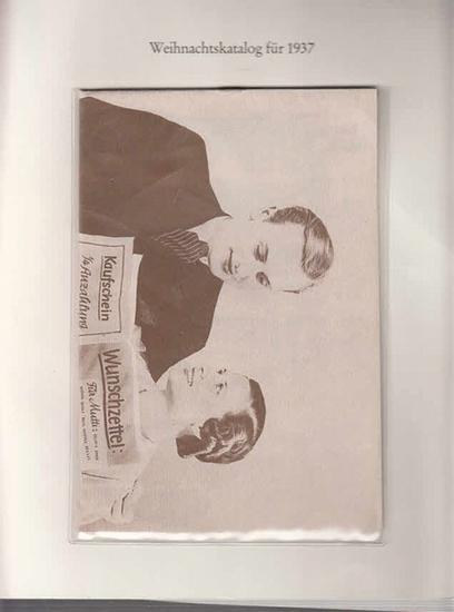 Berlin-Archiv. - Jonass & Co.AG. - BerlinArchiv (Hrsg.v. Hans-Werner Klünner und Helmut Börsch-Supan): Lieferung BE 01079 - Weihnachtskatalog 1937 des Kaufhauses Jonass & Co.AG., Kaufhaus für Gebrauchs- und Luxusartikel. Faksimile.