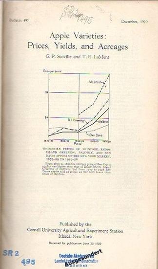 Scoville, G. P. and LaMont, T. E. // Bucknam, R. F. // Lyon, T. L. // Williams, Faith M. and Lockwood, Julia E. // Gilbert, C. W.: Scoville, G. P. and LaMont, T. E.: Apple Varieties: Prices, Yields, and Acreages (Bulletin 495: p. 1-104) // Bucknam, R. F.: