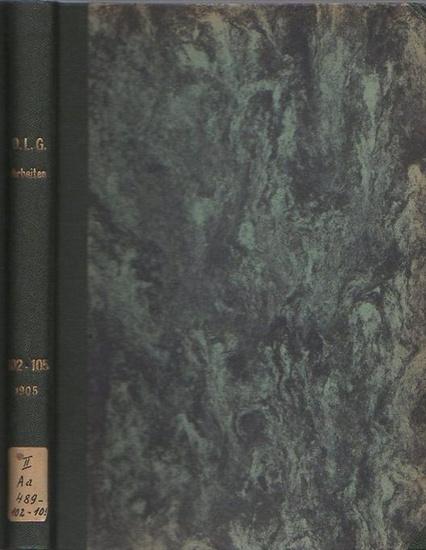 Deutsche Landwirtschafts-Gesellschaft. - Herter, M. / Boysen / Stieger, G. / Weber, C. A.: Arbeiten der Deutschen Landwirtschafts-Gesellschaft. Hefte 102, 103, 104, 105 in einem Band. 1) Heft 102 - Herter, M.: Zucht, Fütterung und Haltung des Schweins ...