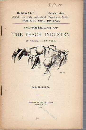 Bailey, L. H.: Impressions of the Peach Industry in Wester New York. (= Bulletin 74, October, 1894. Cornell University Agricultural Experiment Station. Horticultural Division).